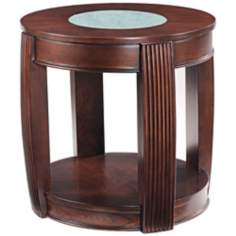 Ino Collection Burnt Umber Ash Oval End Table