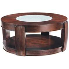 Ino Collection Burnt Umber Ash Round Cocktail Table