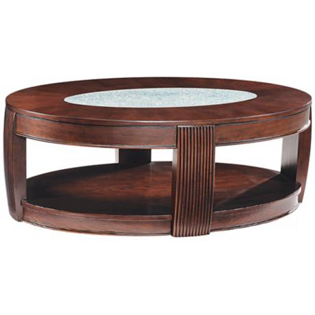 Ino Collection Burnt Umber Ash Oval Cocktail Table