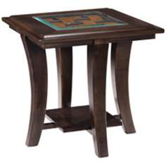 Tivoli Collection Rectangular Hazelnut Ash End Table