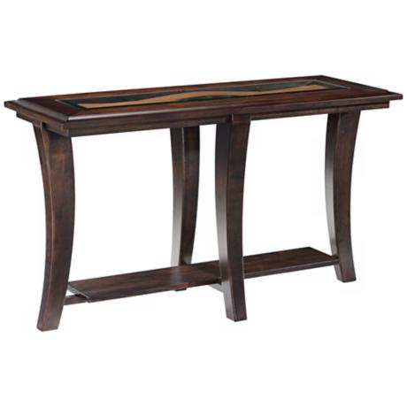 Tivoli Collection Rectangular Hazelnut Ash Sofa Table