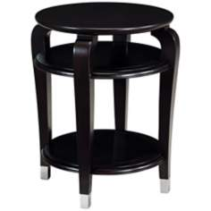 Harper Ebonized Cherry Round Accent Table