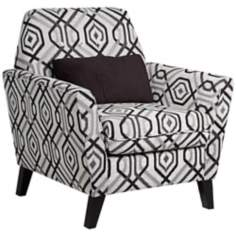 Roger Black Geometric Armchair with Pillow