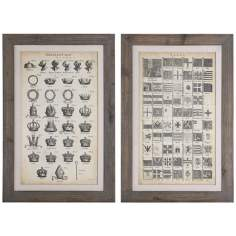 "Uttermost Set of 2 Encyclopediae 30"" High Wall Art Prints"