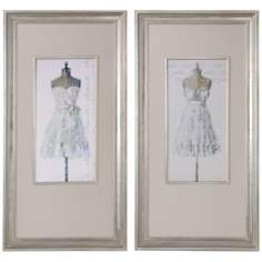 "Uttermost Set of 2 Elegante/Tres Jolie 46""H Wall Art Prints"