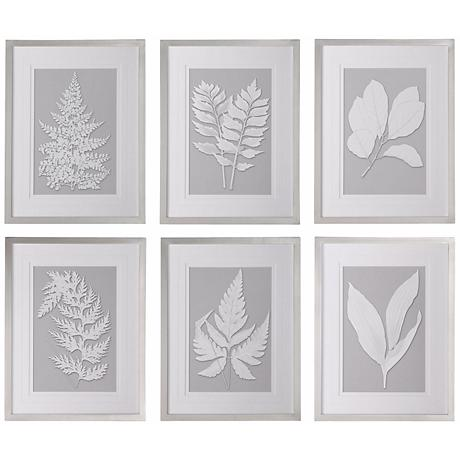 "Uttermost Set of 6 Moonlight Ferns 26""H Wall Art Prints"