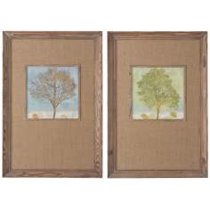 "Uttermost Set of 2 Tree Seasons 31"" High Wall Art Prints"
