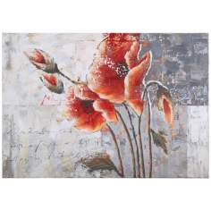 "Uttermost Poetic Flowers 39"" Wide Hand-Painted Wall Art"