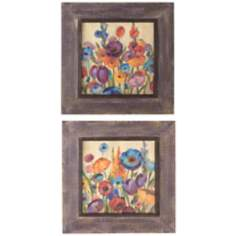 "Uttermost Set of 2 Garden Hues 27"" Square Wall Art Prints"