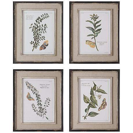 "Uttermost Butterfly Plants 21"" High Wall Art Prints"