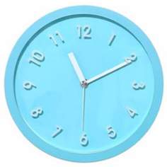 "Decomates Sweet Blue and White 8 1/4"" Wide Silent Wall Clock"