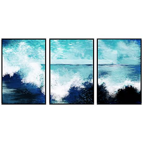 Ocean Waves Triptych Set of 3 Wall Art