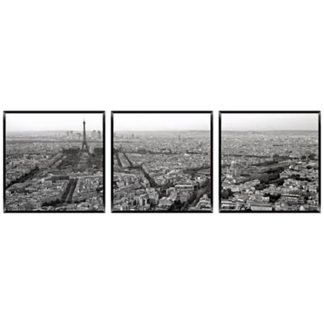Paris By Day Triptych Set of 3 Photo Wall Art