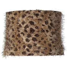 Leopard Shag Drum Lamp Shade 13x14x10 (Spider)