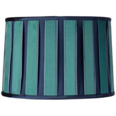 Blue and Green Block Drum Shade 13x14x9.5 (Spider)