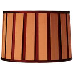 Orange Float Drum Shade 13x14x9 1/2 (Spider)