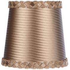 Light Bronze Embossed Beaded Shade 4x5x5 (Clip-On)