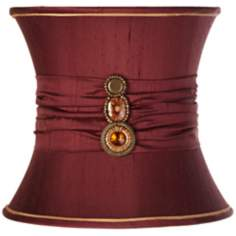Silk Maroon Red Broach Bell Shade 11x12x9.5 (Spider)