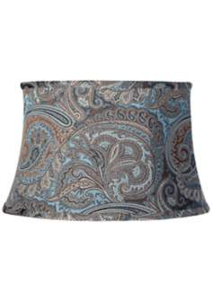 Blue Paisley Lamp Shade 14x17x10 1/2 (Spider)