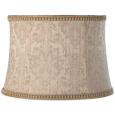 Latte Brocade Floral Drum Shade 13x15x10.5 (Spider)