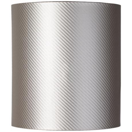 Silver Woven-Look Drum Shade 9x9x10 (Spider)