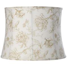 Cream English Floral Shade 14x16x12 (Spider)