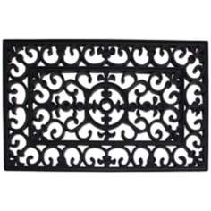 "Wrought Iron 1'6""x2'6"" Rubber Door Mat"