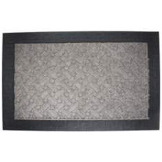 Duradeluxe Greek Key 2'x3' Charcoal Door Mat