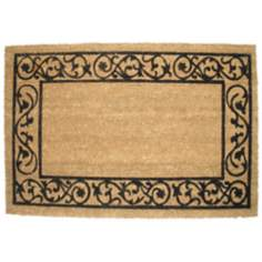 "Wrought Iron Border 19.5""x29.5"" Coir Door Mat"