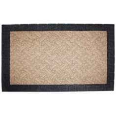 Duradeluxe Greek Key 2'x3' Beige Door Mat