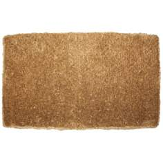 "Brush Plain 1'10""x3' Coir Door Mat"