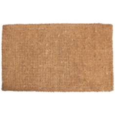 "Imperial Plain 2'x3'3"" Black Coir Door Mat"