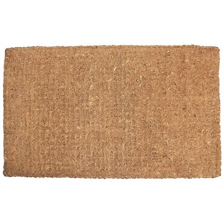 "Imperial Plain 1'8""x2'9"" Beige Door Mat"