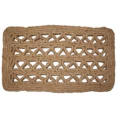 "Chain Rectangle 1'6""x2'6"" Coir Door Mat"