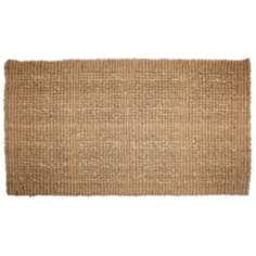 "Plain Tile Loop 1'10""x3' Coir Door Mat"