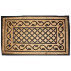 Tuffridge Heavy Lattice 2'x3' Coir and Rubber Door Mat