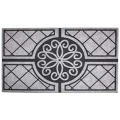 "Granite Medallion 1'6""x2'6"" Recycled Rubber Door Mat"
