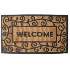 "Tuffridge Swirls 1'6""x2'6"" Light Welcome Door Mat"