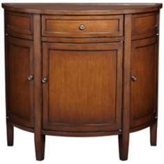 Evelyn Cherry Demilune 3-Drawer Wood Chest