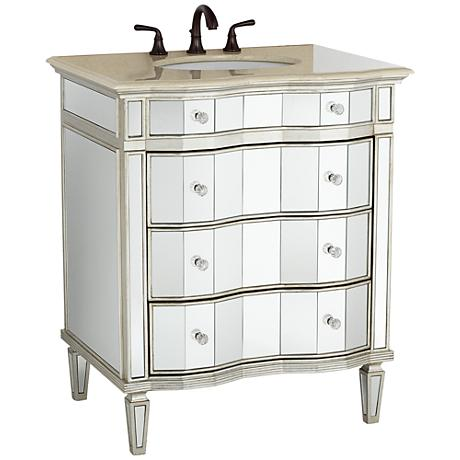 Kaylee Mirrored Bathroom Sink Vanity