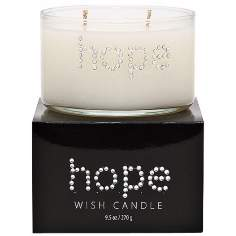 Hope Hand-Jeweled Ivory Wish Candle