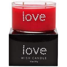 Love Hand-Jeweled Red Wish Candle