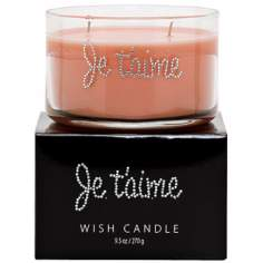 """Je T'aime"" Hand-Jeweled Wish Candle"