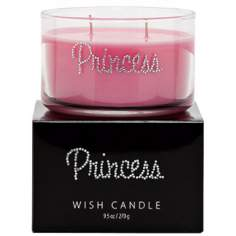 Pink Princess Hand-Jeweled Wish Candle