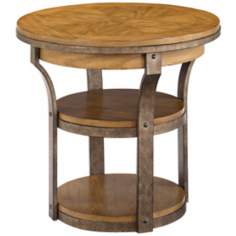 Vero Round Wooden End Table