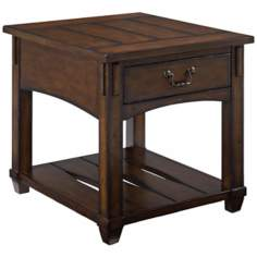 Tacoma Rustic Single-Drawer End Table