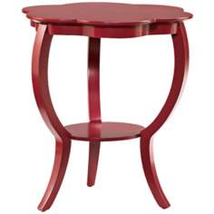 Hidden Treasures Round Red Accent Table