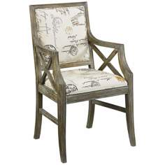 Hidden Treasures Parisian Script Accent Chair