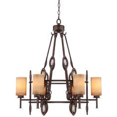 "Bronze Opals 29 3/4"" Wide Scavo Glass Chandelier"