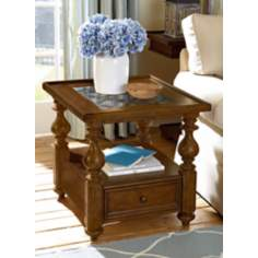 Homestead Antique Brown Rectangular End Table